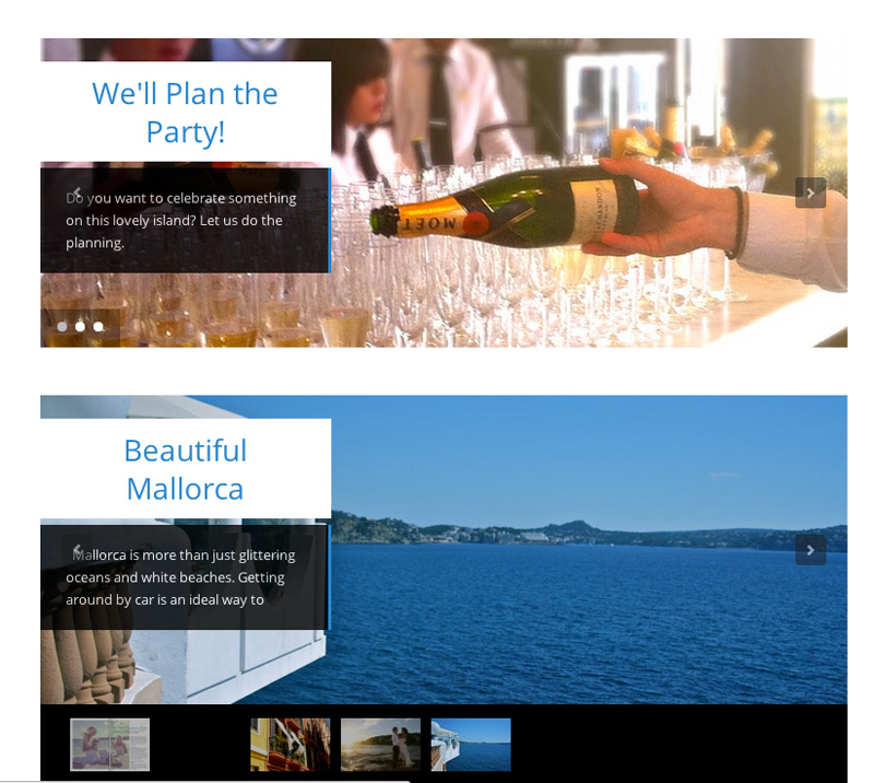 Web Setup Isla Mallorca Events