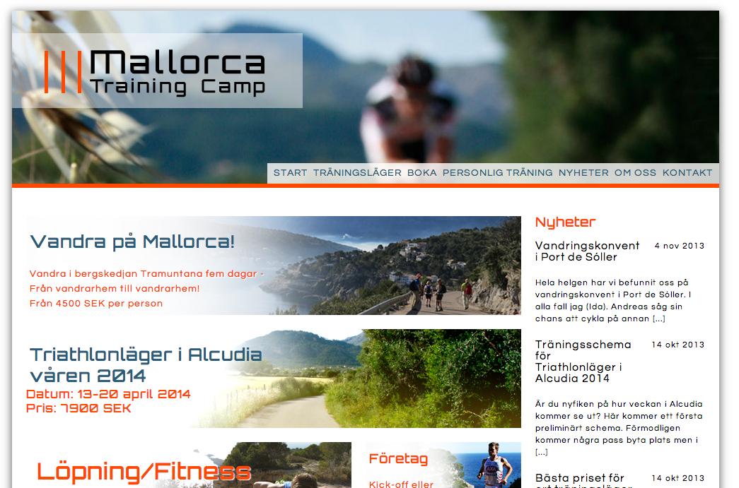 Mallorca Training Camp Web Site