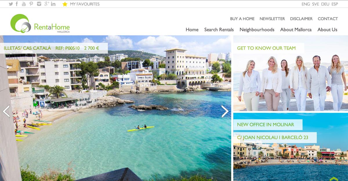 Rent a Home Mallorca new website