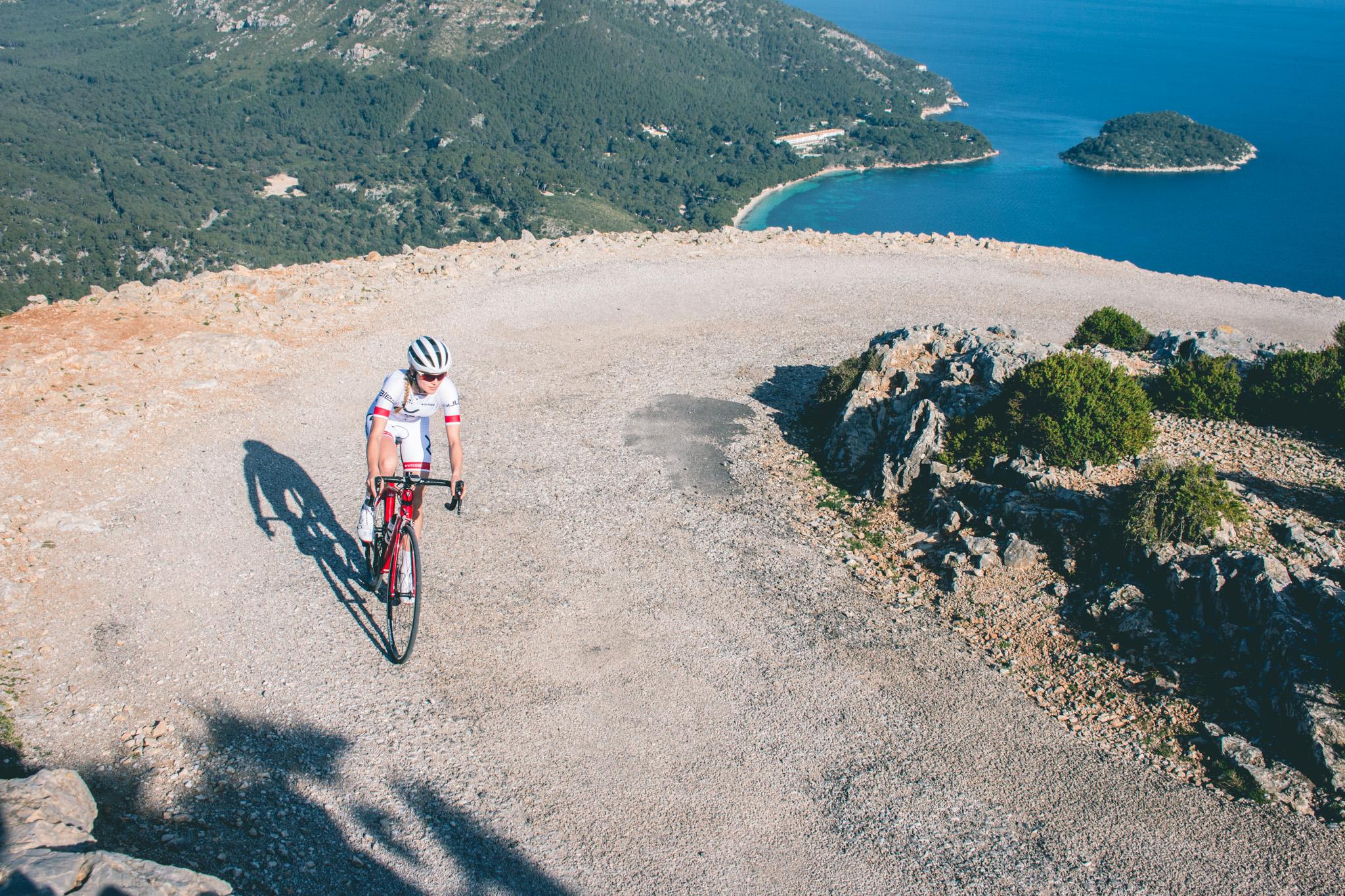 Triathlete Paulina Zalucka in Mallorca
