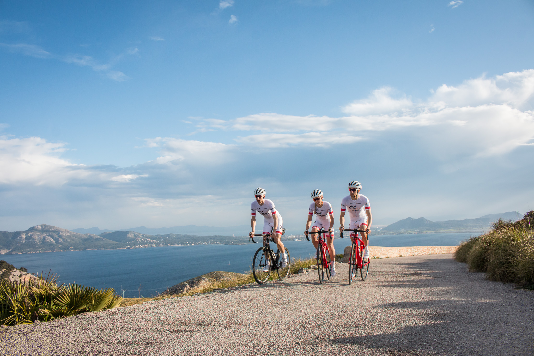 Km sport pro team cycling in Mallorca