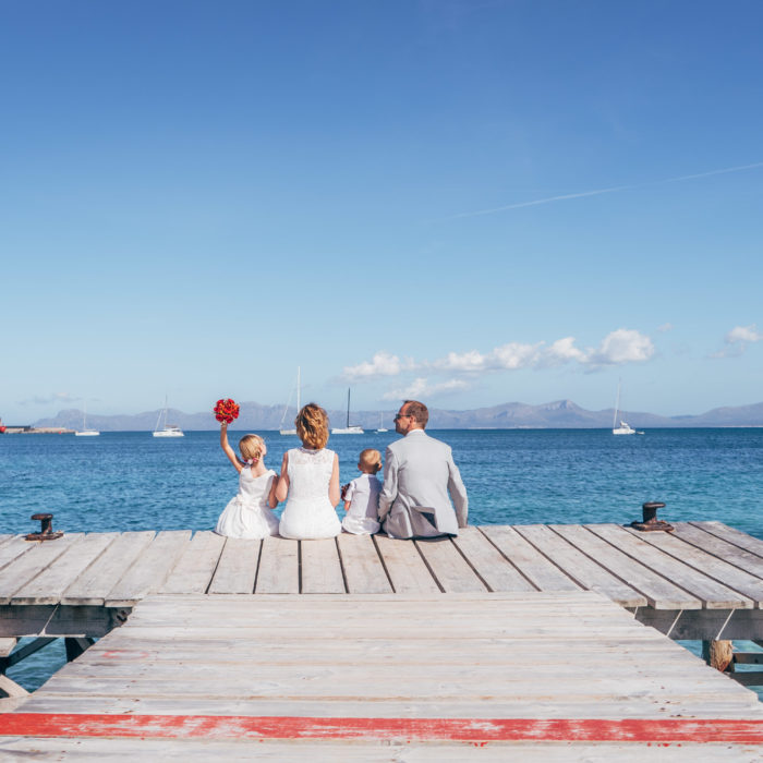 Barefoot elopement wedding in Alcudia, Mallorca
