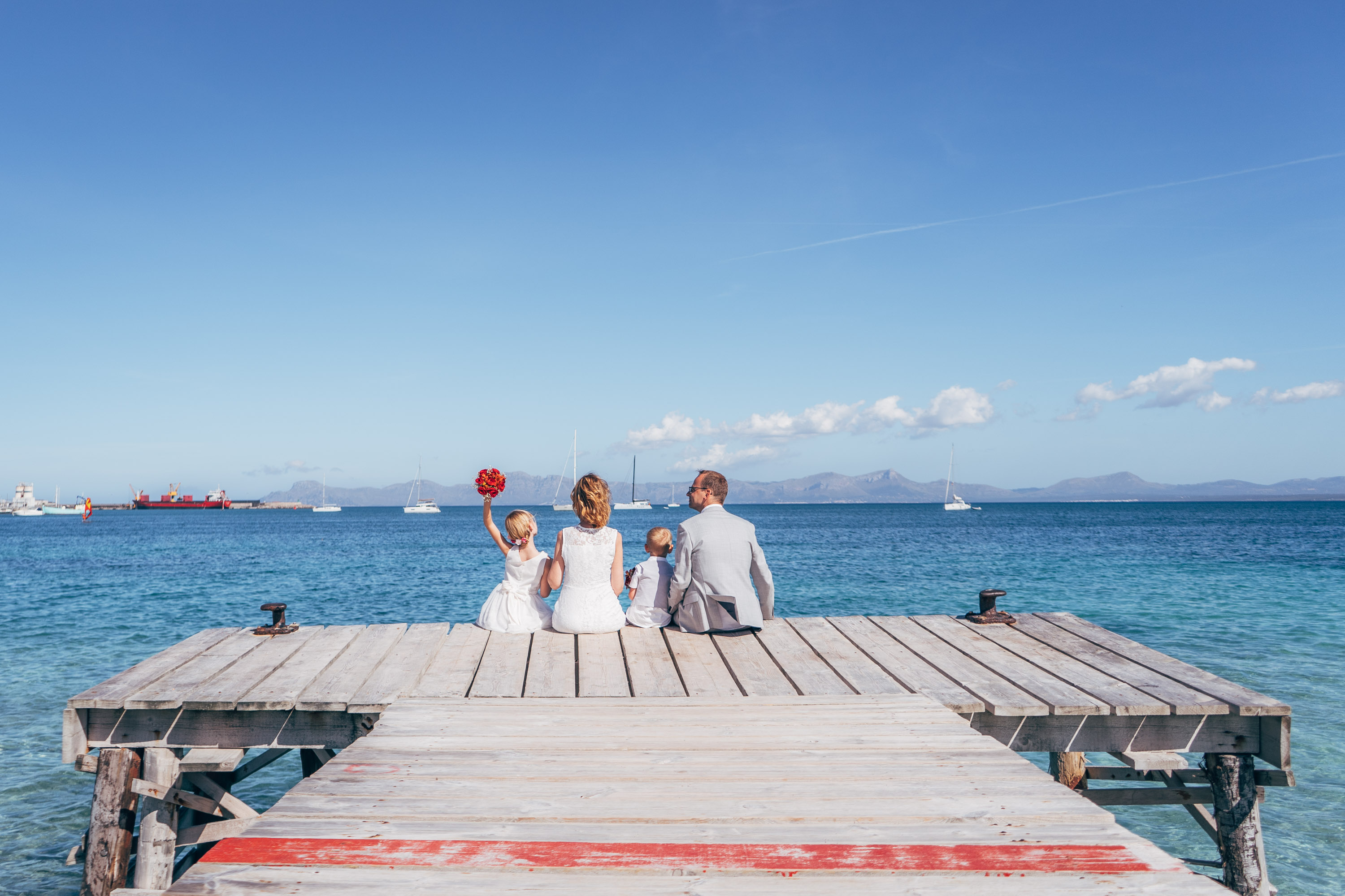 Family wedding photo mallorca
